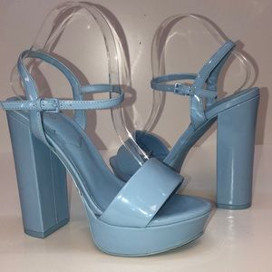 Aldo Kandie Patent Heeled Sandals Sz 7.5